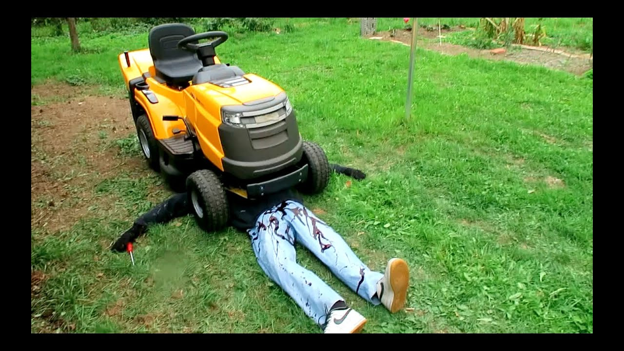 KILLED BY LAWN MOWER PRANK - YouTube