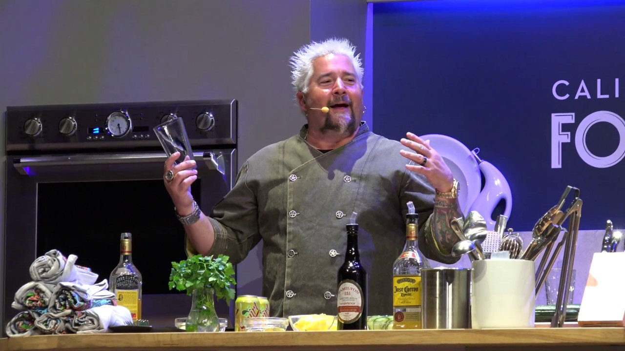 [4K]Guy Fieri Cooking Demonstration - Disney California Adventure Food and Wine Festival 2017 ...