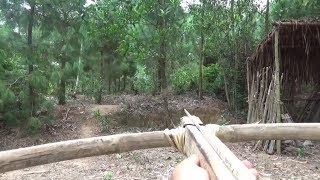 Primitive Life-Make Arbalest-CrossBow-Primitive Technology used!