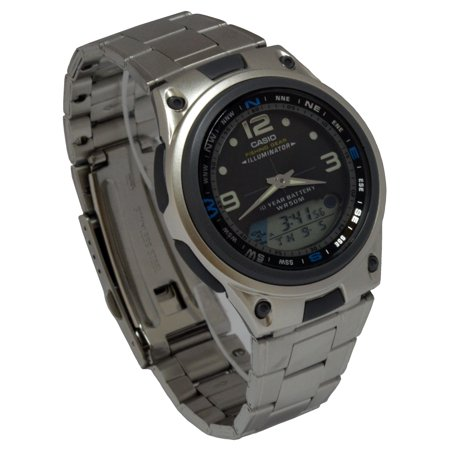 Casio AW82D-1AV Mens Multi-Function Stainless Steel Analog ...
