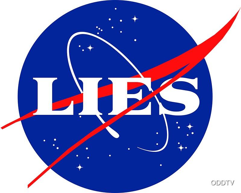 """NASA LIES LOGO"" Stickers by ODDTV | Redbubble"