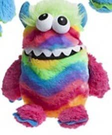 "Childrens 9"" Worry Monster Plush Soft Toy - Rainbow with ..."