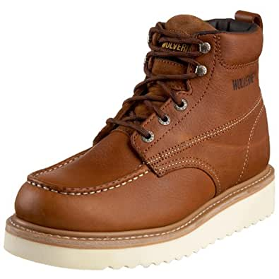 "Amazon.com | Wolverine Men's Moc-Toe 6"" Work Boot 