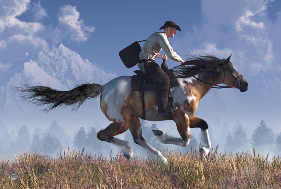Pony Express Rider by deskridge on DeviantArt