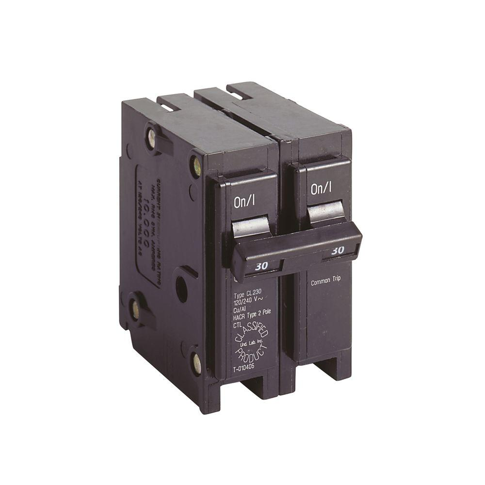 Square D Homeline 30 Amp 2-Pole Circuit Breaker-HOM230CP - The Home Depot