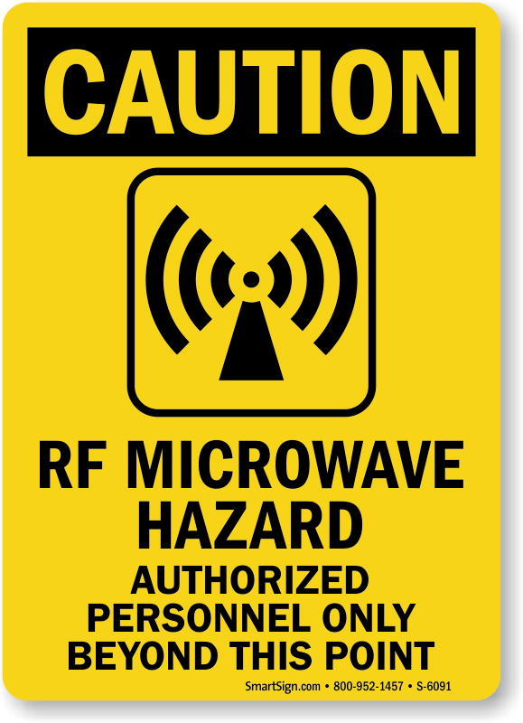 Microwave Safety Signs | Microwave Hazard Signs