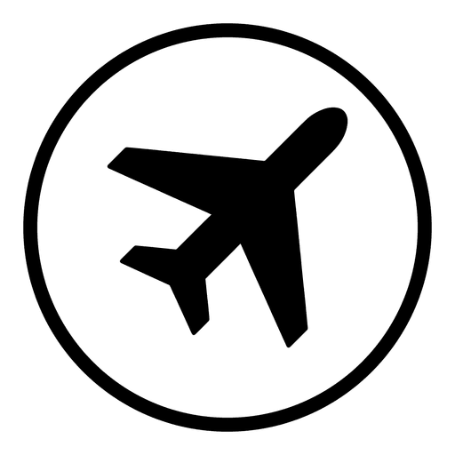 Plane airport round icon - Transparent PNG & SVG vector