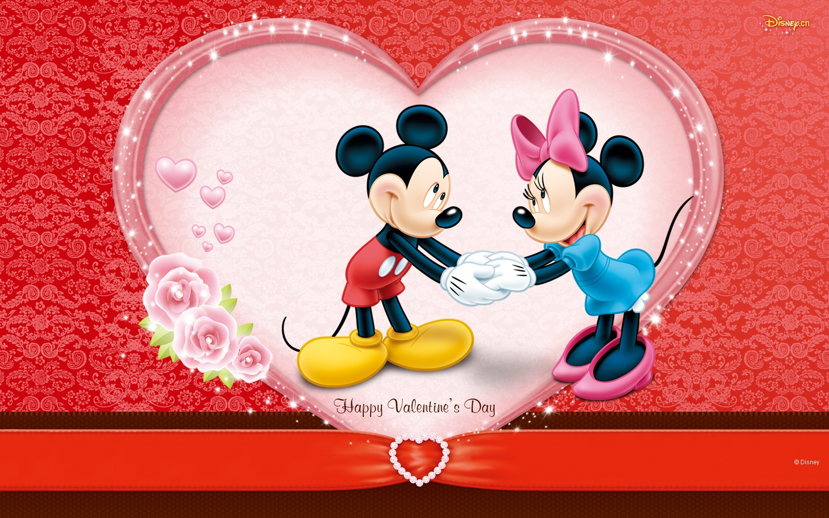 Mickey And Minnie's Valentine's Day Wallpaper and ...
