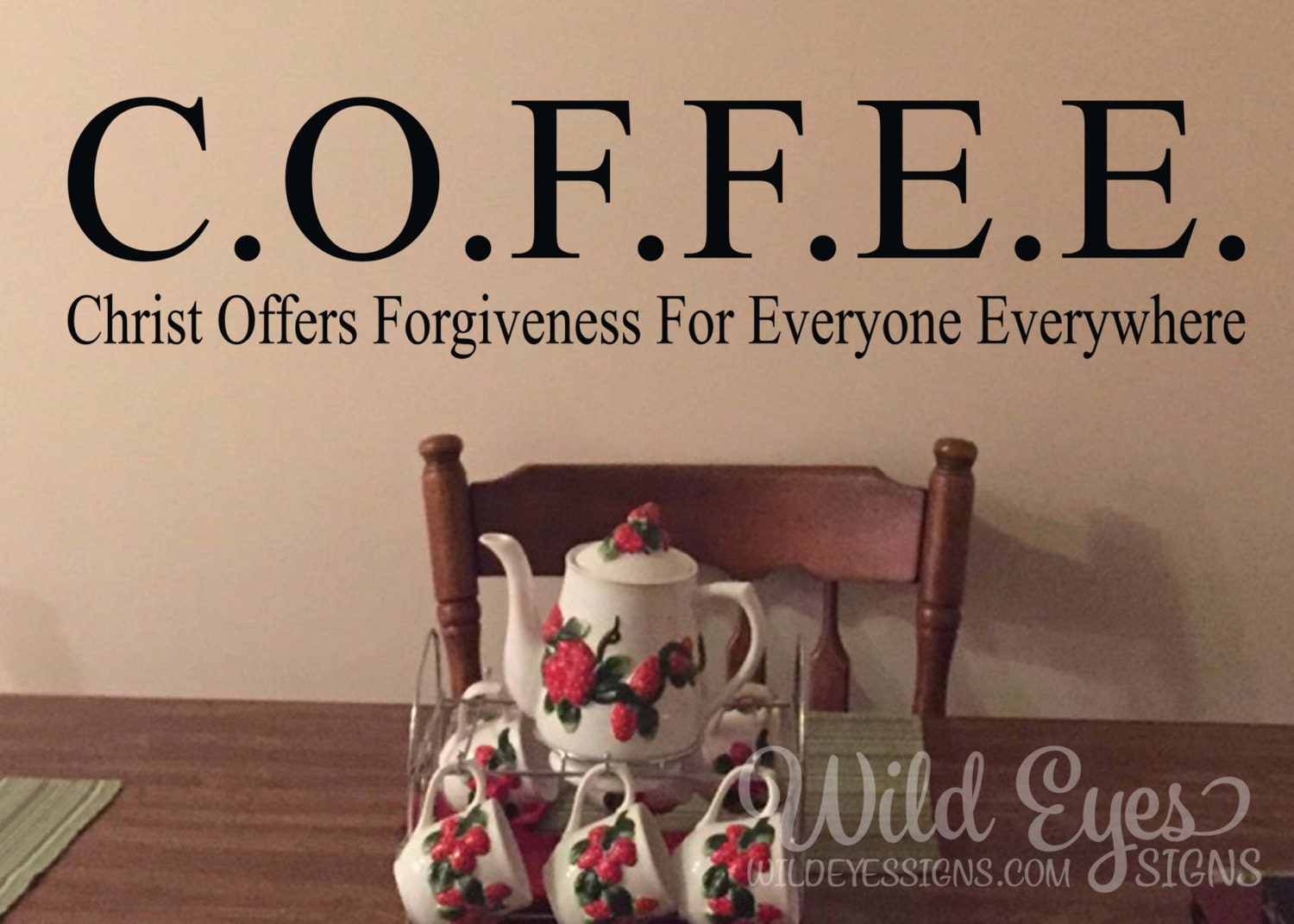 COFFEE Christ offers forgiveness for everyone everywhere