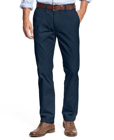 Tommy Hilfiger Men's Custom Fit Chino Pants - Men - Macy's