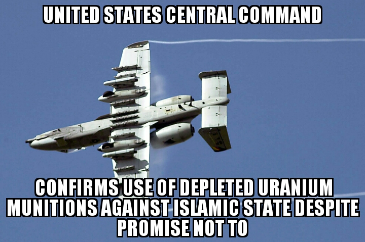 CENTCOM confirms depleted uranium use against Islamic ...