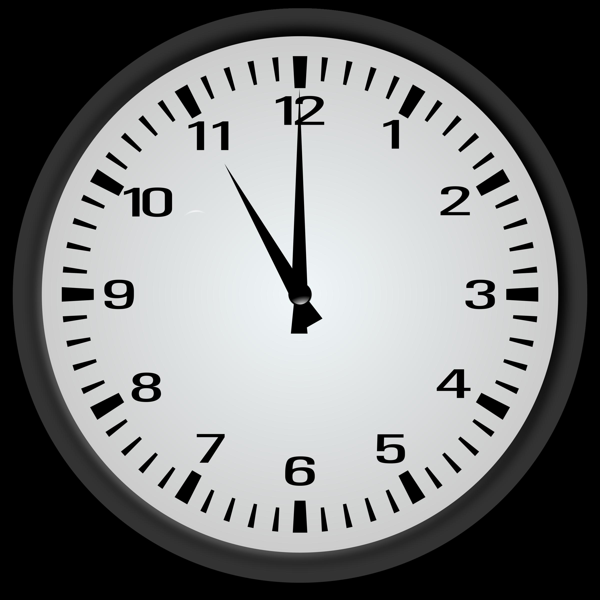 Clipart - 11 o'clock