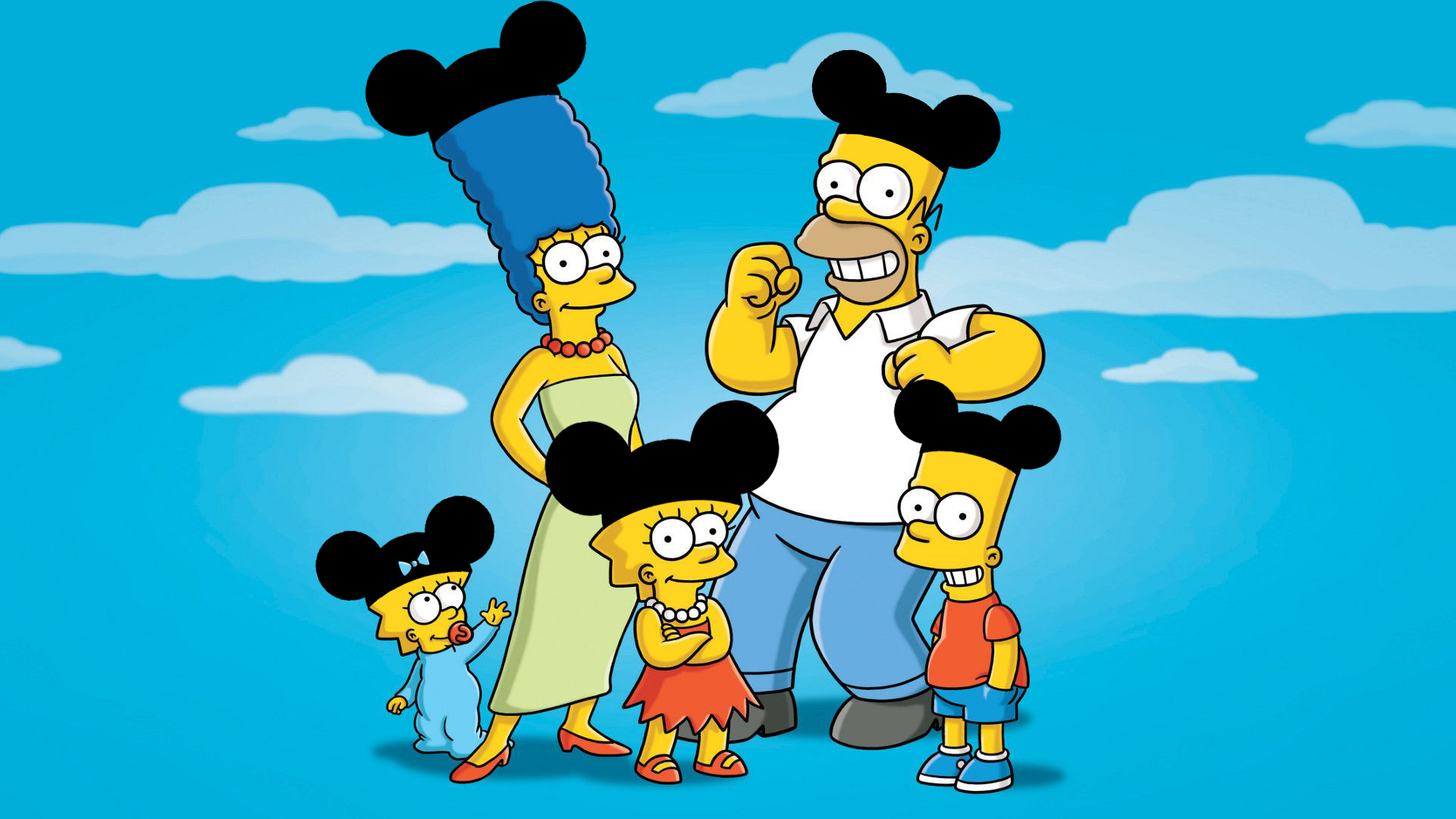 The Simpsons with Mickey Mouse's ears by Arthony70100 on DeviantArt