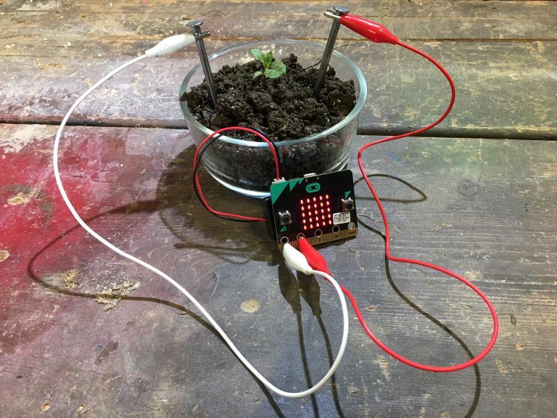 Soil Moisture - Microsoft MakeCode