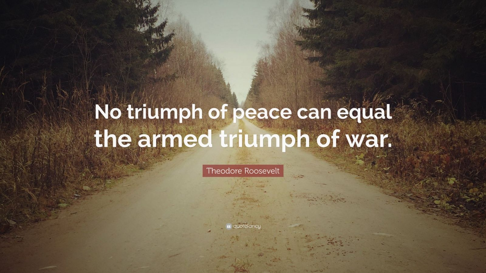 """Theodore Roosevelt Quote: """"No triumph of peace can equal ..."""