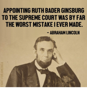 So Ruth Bader Ginsburg Walked Into a Bar With Abraham Lincoln… - RightWisconsin