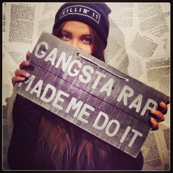 Gangsta rap made me do it #BrandyMelville #brandyIG #girls ...