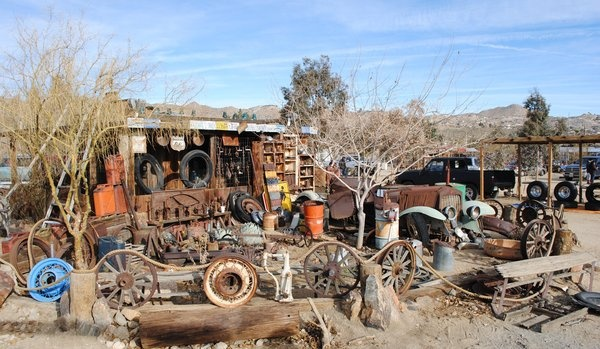 "Sky Village Swap Meet, Yucca Valley, CA -- This place epitomizes the phrase ""one man's trash is ..."