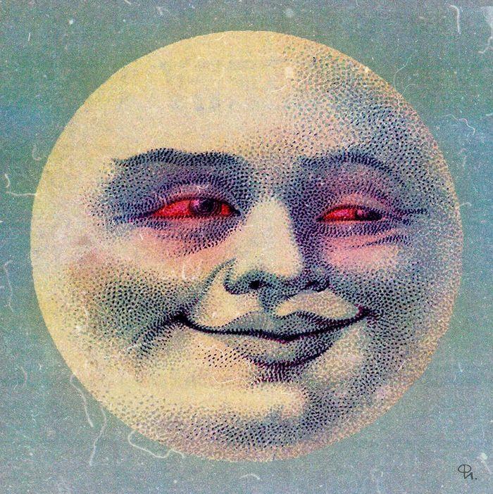 American Weed Hippie Art ~ High moon | Good Vibes ...