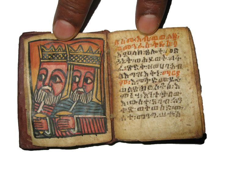 Antique Ethiopian Ge'ez Manuscript : Old Ethiopia Bible Illuminated Prayer Book | needful things ...