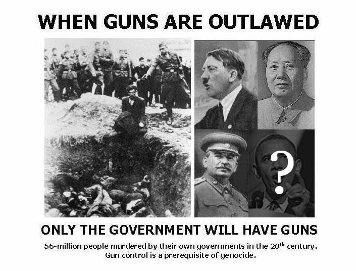 When guns are outlawed, only the government will have guns ...
