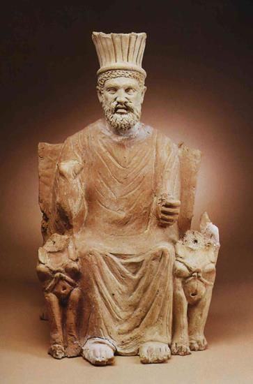 Statue of Baal Hammon; the chief god of Carthage. The ...