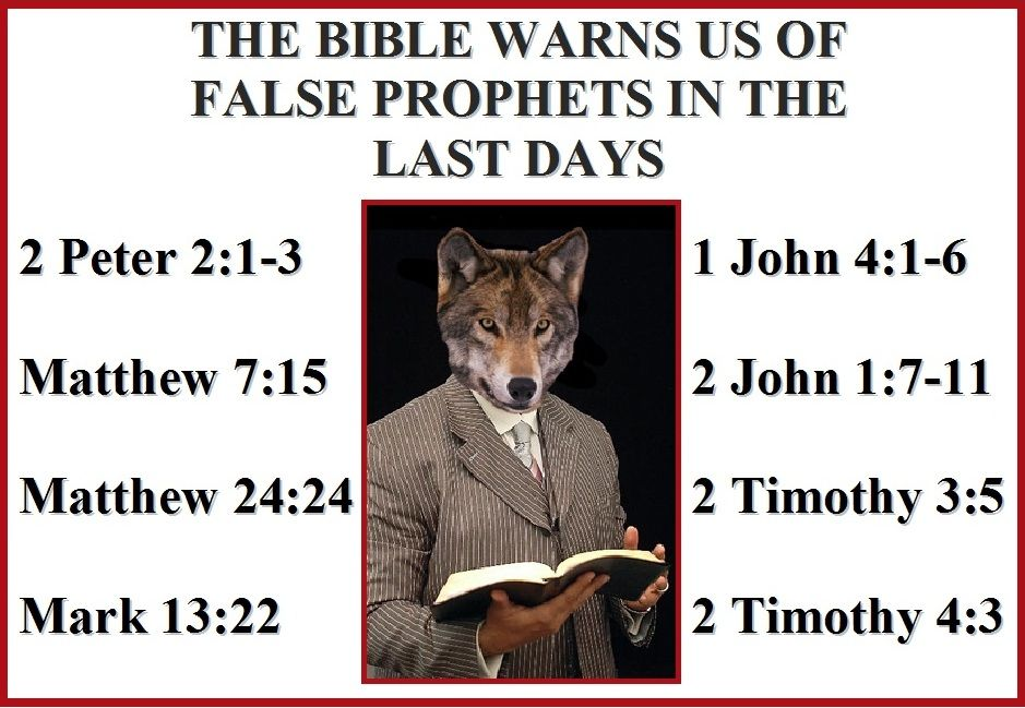 THE BIBLE WARNS US OF FALSE PROPHETS IN THE LAST DAYS – 2 Peter 2:1-3 | Bible scriptures ...