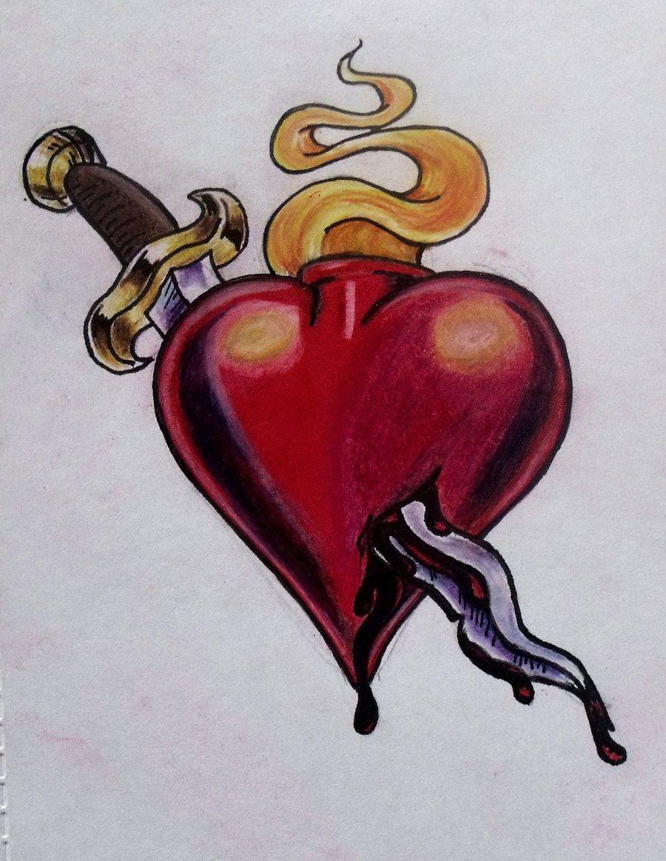heart and dagger by ifinch.deviantart.com on @deviantART ...