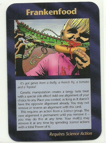 FRANKENFOOD: Illuminati CCG Assassins Plot card; 1995 INWO ...