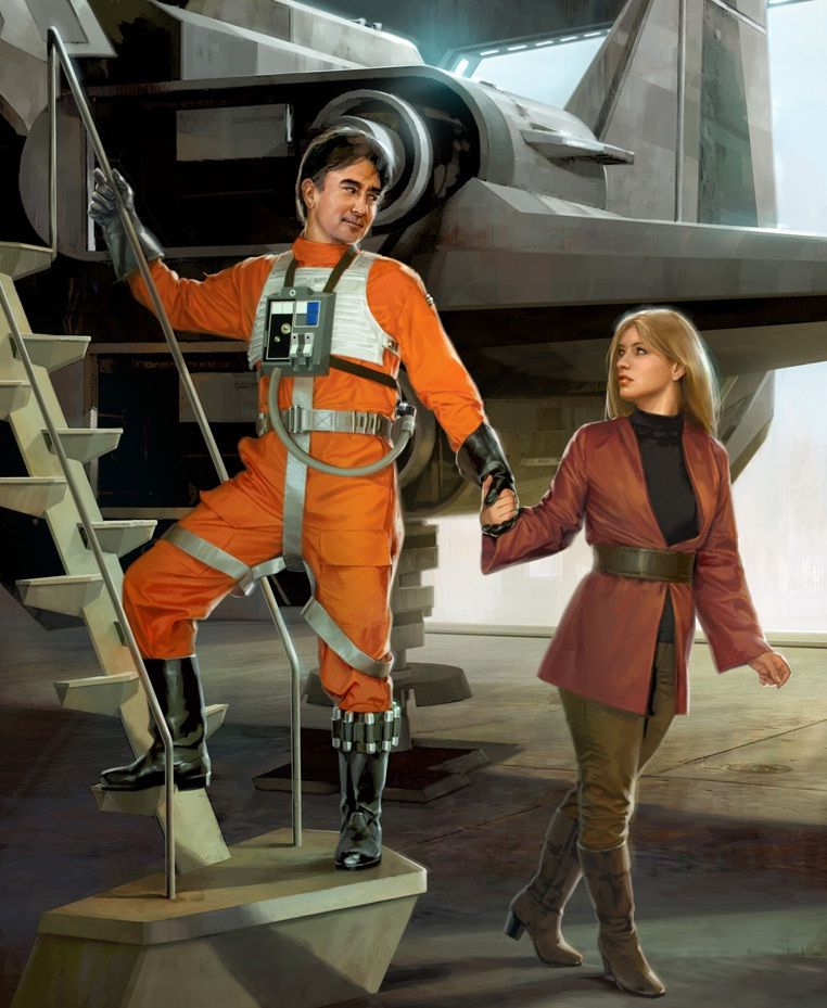 Wedge and Iella, Starfighters of Adumar, by Chris Trevas ...
