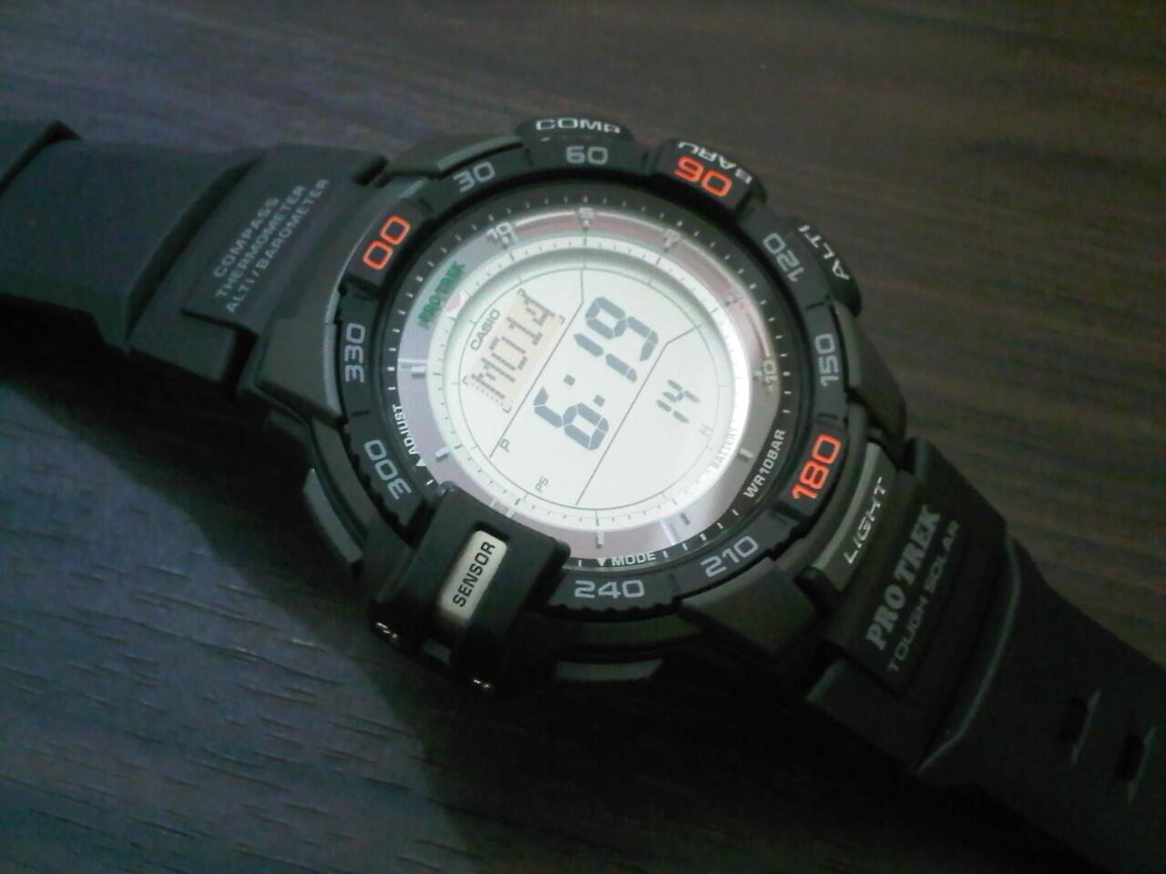 Terjual Jam Tangan Casio PROTREK SGW Compass Thermo Pedometer Altimeter Barometer Original | KASKUS