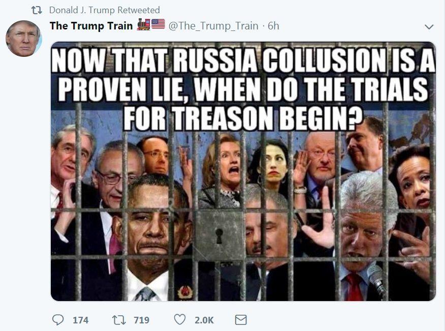 Did Trump Just Accuse Rod Rosenstein of Treason? President ...