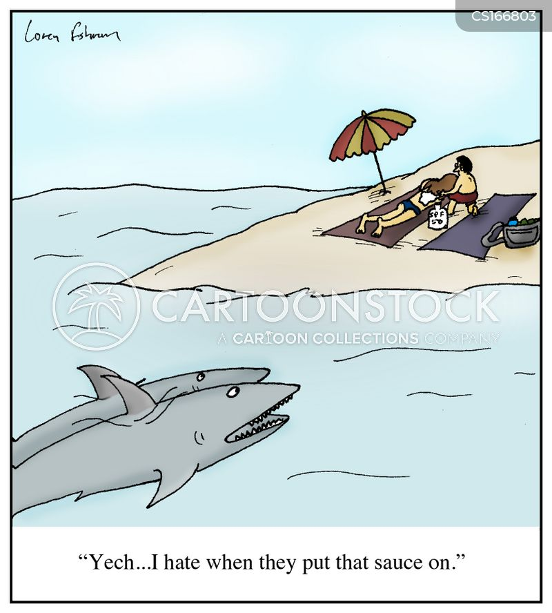 Sunburn Cartoons and Comics - funny pictures from CartoonStock