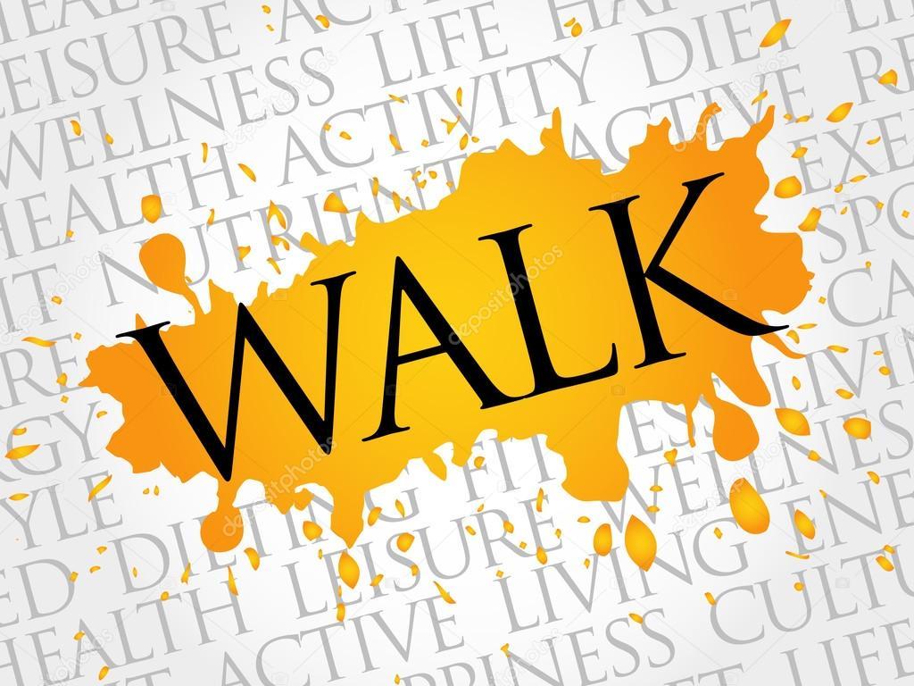 Caminar la palabra nube, fitness, deporte — Vector de stock © dizanna #95472240
