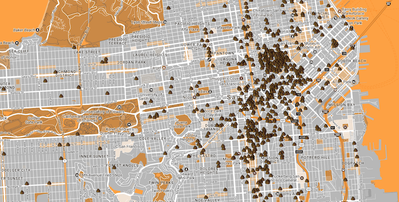 This San Francisco Poop Map Proves the City Has a Major ...