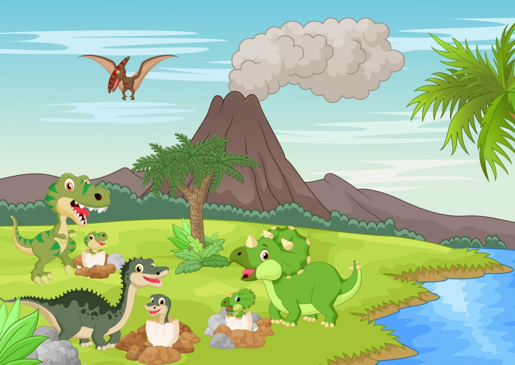 Dinosaur Nesting Ground jigsaw puzzle in Animals puzzles ...