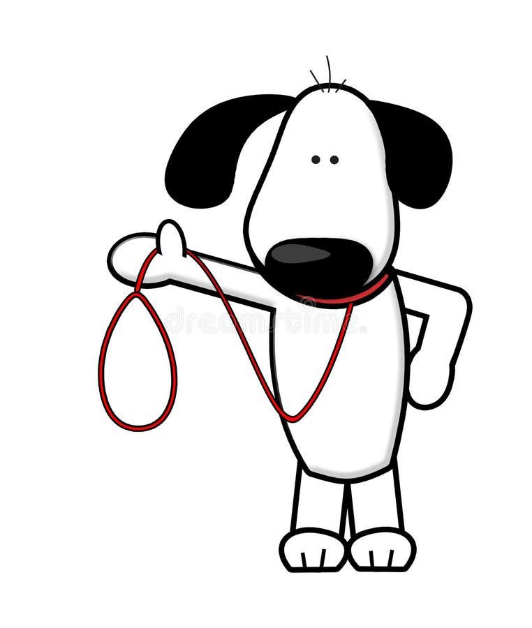 Dog walking cartoon stock illustration. Illustration of ...
