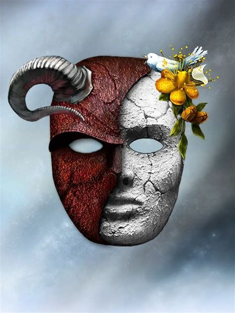 Good and Evil Mask - Bing Images | Masks | Pinterest | Good and evil, Search and Masks