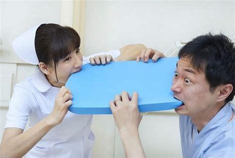 people eating foam