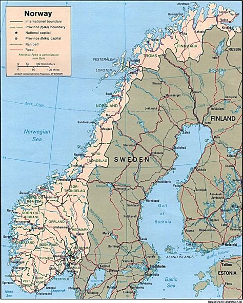 Large detailed political and administrative map of Norway with cities | Vidiani.com | Maps of ...