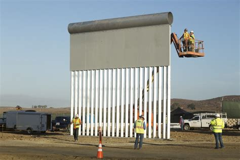 Prototypes of Trump's border wall unveiled in California ...