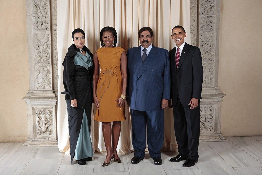 File:Hamad Bin Khalifa Al-Thani with Obamas.jpg ...