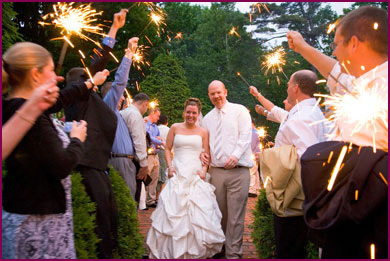 Using Wedding Sparklers During the Day | A Sparkler in the Daytime