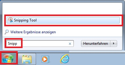 Finding the windows snipping tool & how to make screenshots for free.