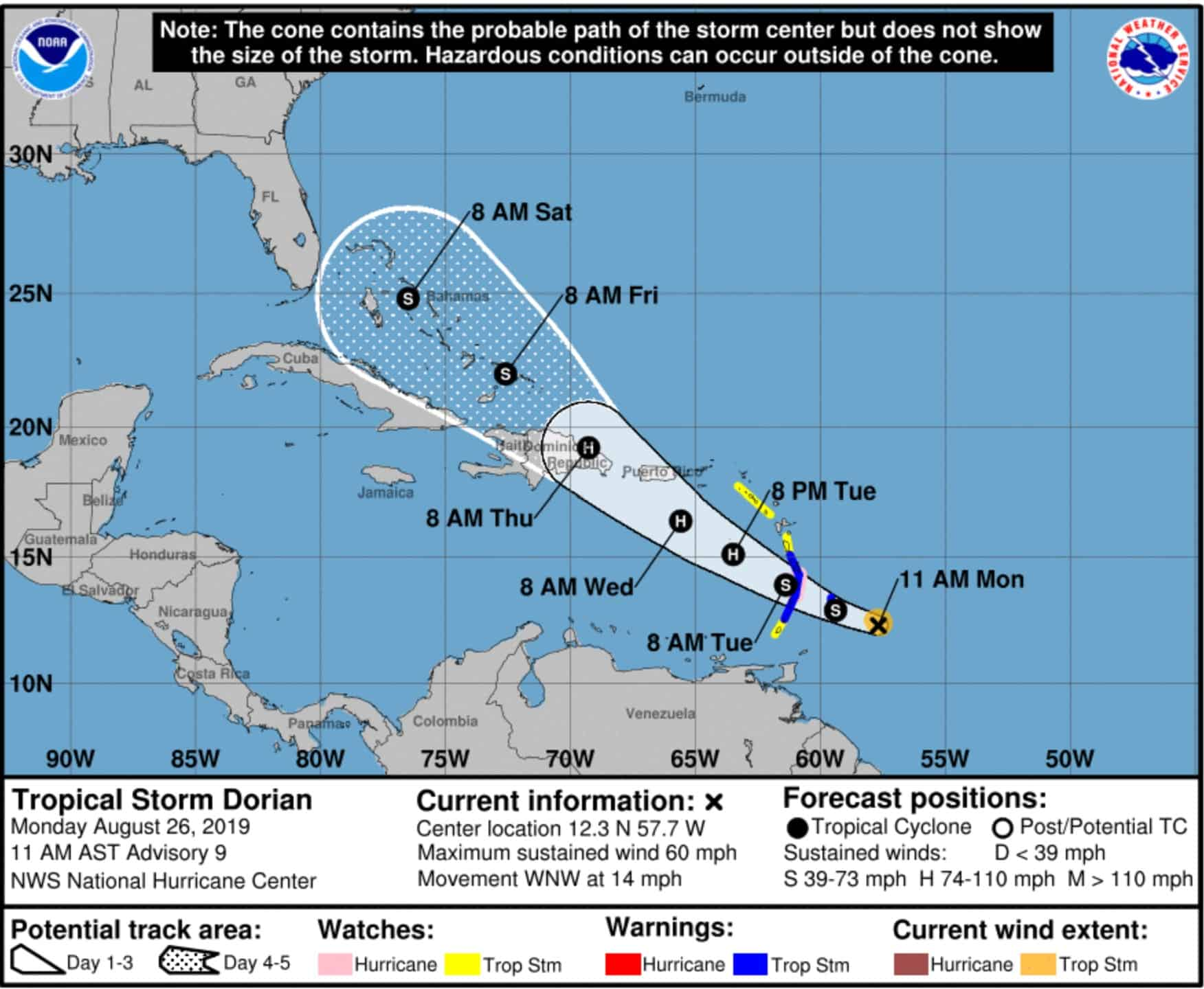 Major Cruise Ports to Close as Dorian to Become a Hurricane