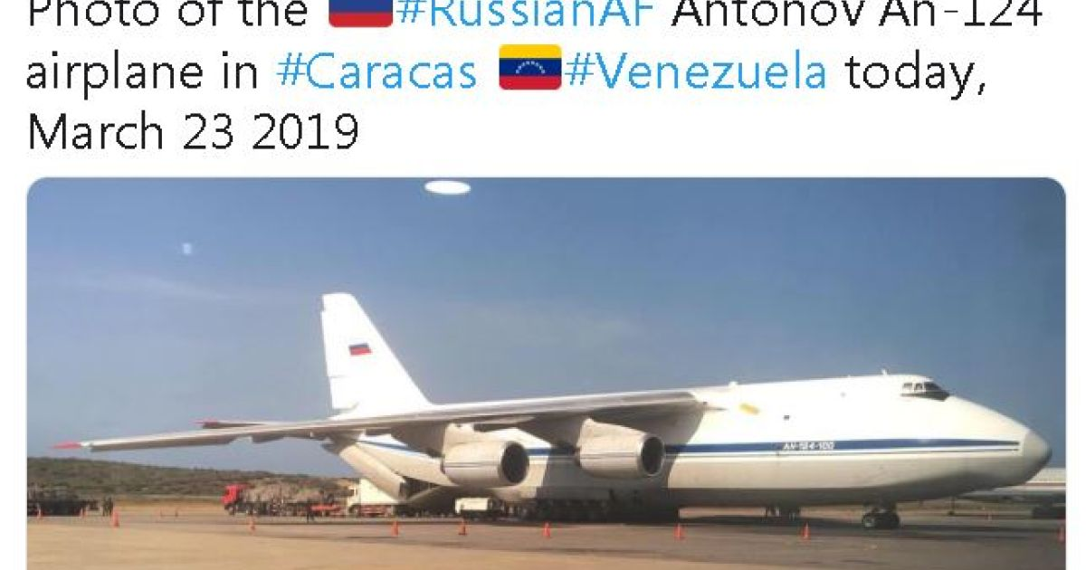 Russian air force planes land in Venezuela carrying troops ...