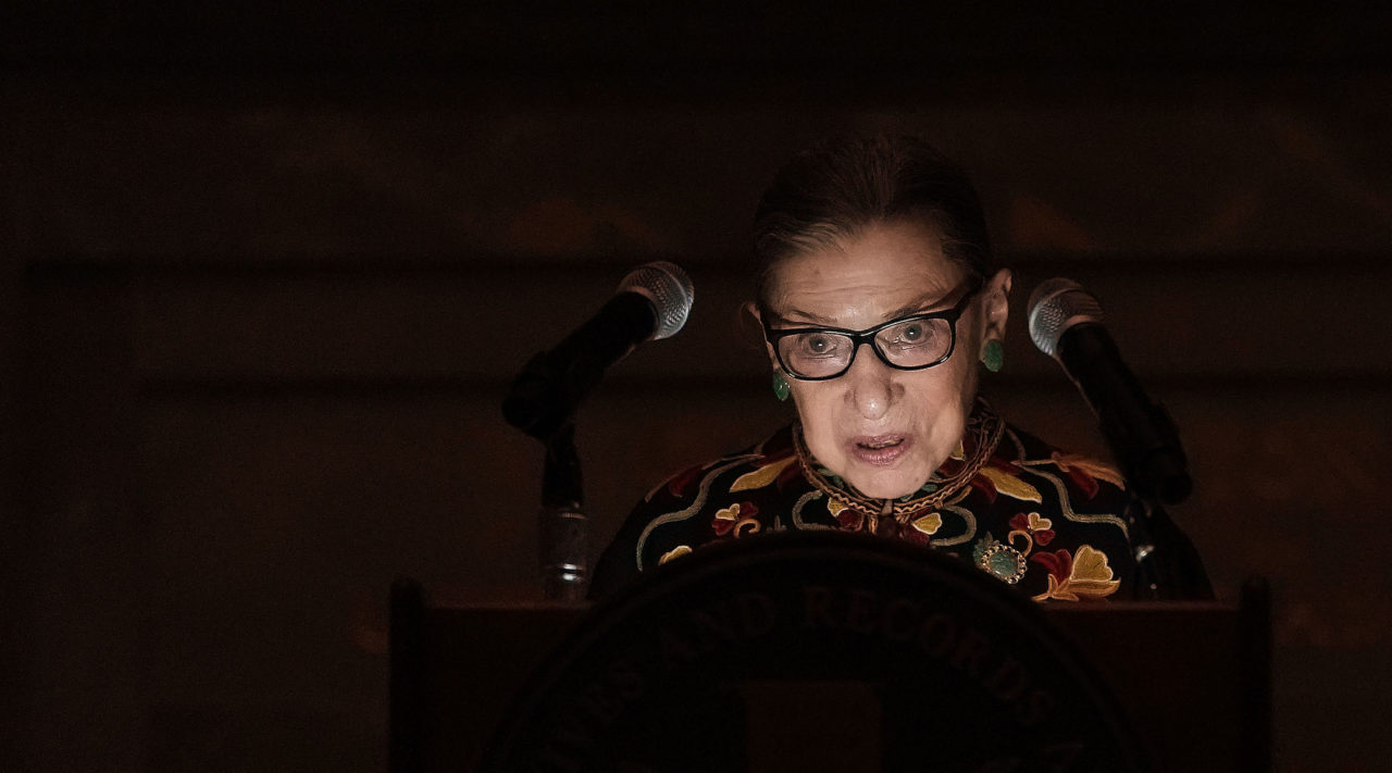 Ruth Bader Ginsburg swears in new immigrants, wows them with her story – J.