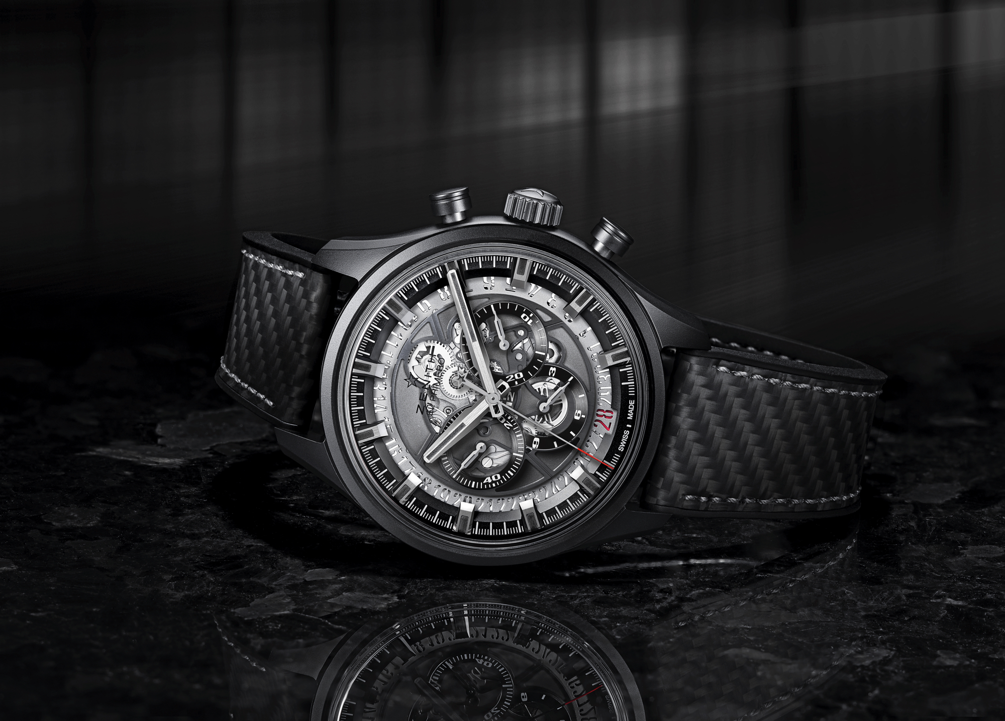 Zenith Launches Black Ceramic El Primero Skeleton