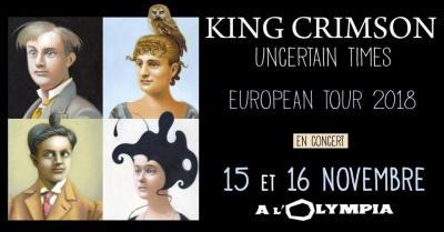 King Crimson en concert à l'Olympia de Paris en novembre ...