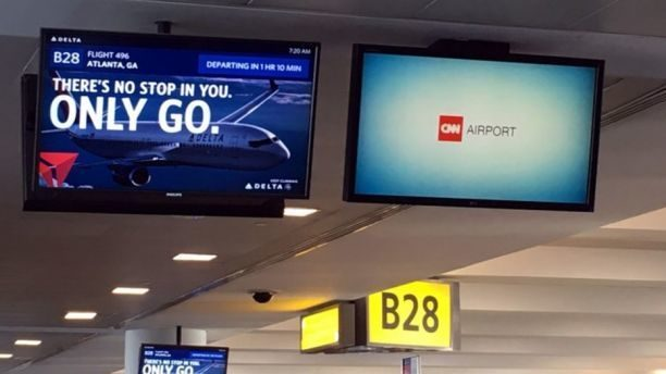 Travelers object to being force-fed CNN at the airport ...